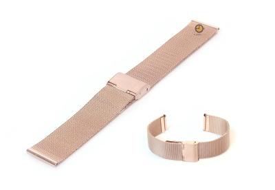Milanese horlogeband 18mm rose goud fijn