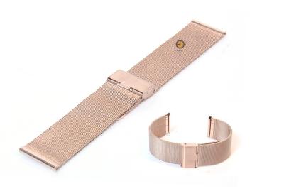 Milanese horlogeband 22mm rose goud fijn