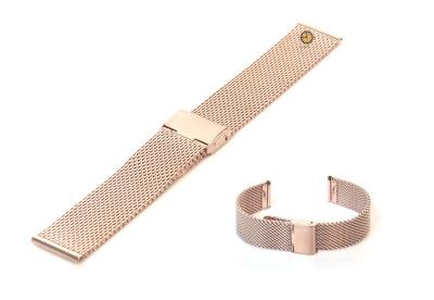 Milanese horlogeband 18mm rose goud