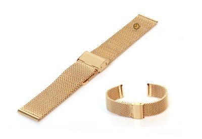 Milanese horlogeband 18mm goud