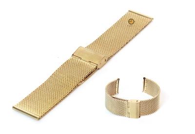 Milanese horlogeband 22mm goud
