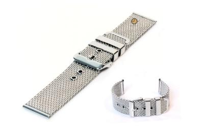 Milanese horlogeband 22mm zilver