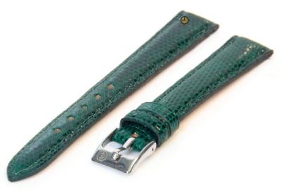 Horlogeband 14mm echt hagedissenleer groen