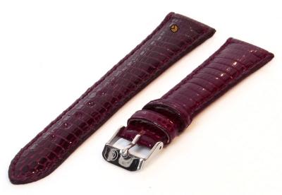 Horlogeband 18mm echt hagedissenleer bordeaux