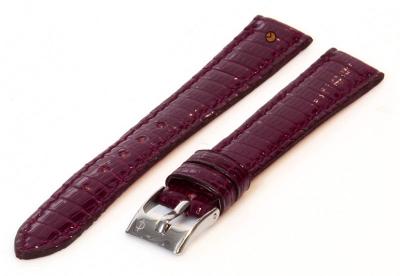 Horlogeband 14mm echt hagedissenleer bordeaux