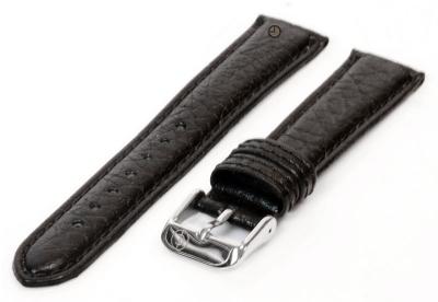 Horlogeband 12mm zwart bizon leer