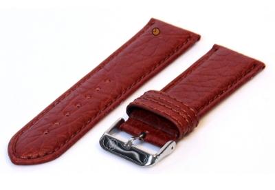 Horlogeband 24mm bruin bizon leer