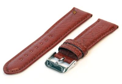 Horlogeband 18mm bruin bizon leer