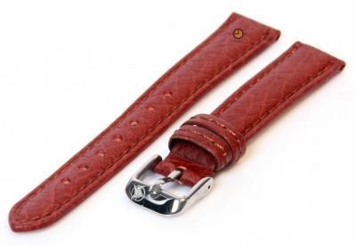 Horlogeband 16mm bruin bizon leer