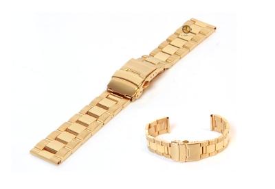 Horlogeband 20mm goud staal deels gepolijst