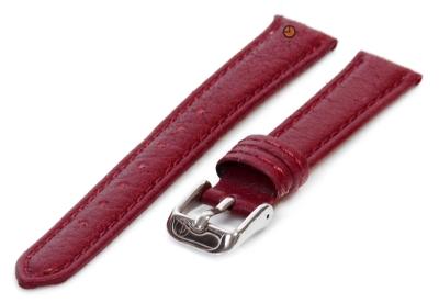 Horlogeband 14mm bordeaux bizon leer