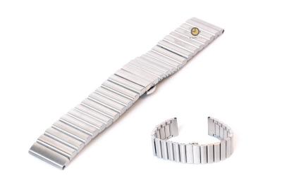 Horlogeband 22mm mat staal zilver