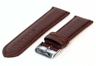 Horlogeband 24mm donkerbruin bizon leer