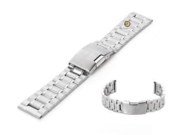 Horlogeband 20mm zilver staal mat/glans