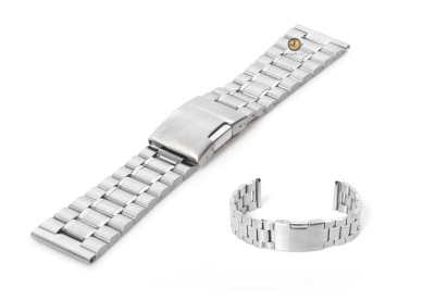 Horlogeband 23mm zilver staal mat/glans