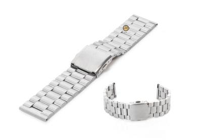 Horlogeband 23mm zilver staal mat