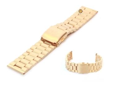 Horlogeband 23mm goud staal mat