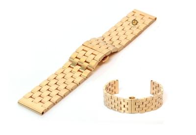 U-BOOT 22mm horlogeband staal mat goud
