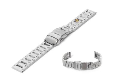 Horlogeband 18mm zilver staal mat/glans