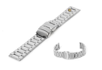 Horlogeband 22mm zilver staal mat/glans