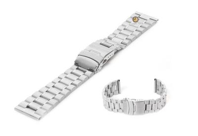 Horlogeband 24mm zilver staal mat/glans