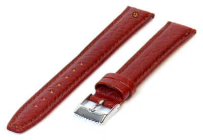 Horlogeband 14mm lichtbruin buffelleer extra lang