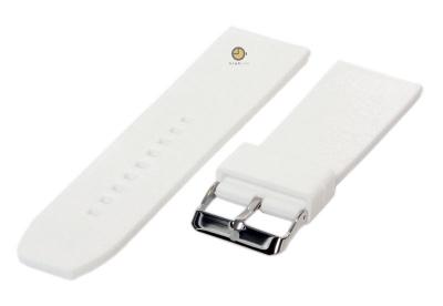 Horlogeband 28mm wit siliconen glad