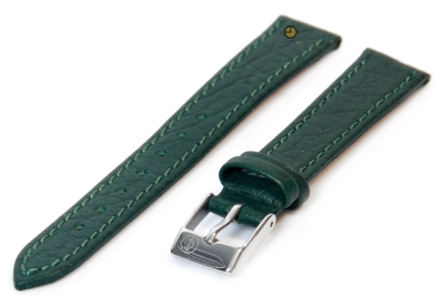 Horlogeband 14mm groen buffelleer