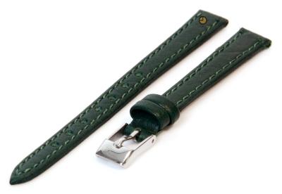 Horlogeband 10mm groen buffelleer