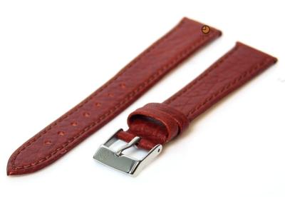 Horlogeband 14mm havannabruin buffelleer
