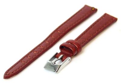 Horlogeband 12mm havannabruin buffelleer