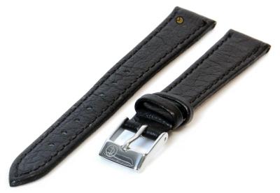 Horlogeband 10mm zwart buffelleer