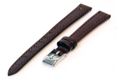 Horlogeband 12mm bruin buffelleer