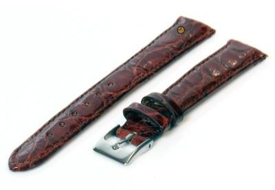 14mm horlogeband echt krokodillenleer roodbruin