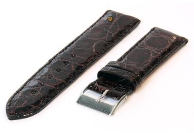 22mm horlogeband echt krokodillenleer bruin