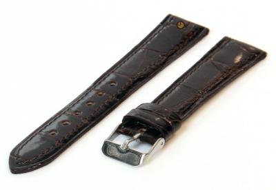 18mm horlogeband echt krokodillenleer bruin