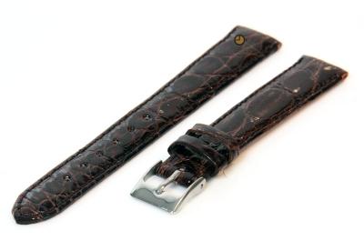 14mm horlogeband echt krokodillenleer bruin