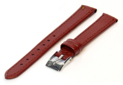 Horlogeband 10mm bruin bizonleer