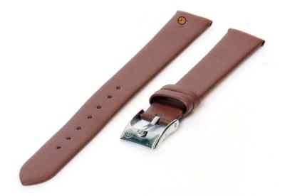 Horlogeband 14mm bruin leer naadloos