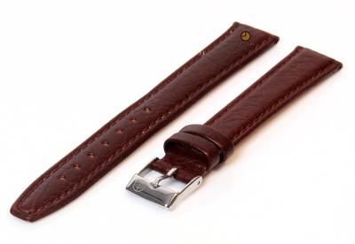 Horlogeband 14mm bruin buffelleer extra lang