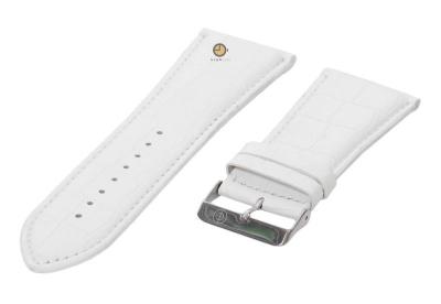 Horlogeband 32mm wit leer croco