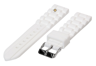 Siliconen horlogeband 18mm wit