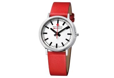 Mondaine 20mm horlogeband rood mat