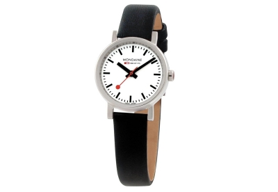 Mondaine 12mm horlogeband zwart glans
