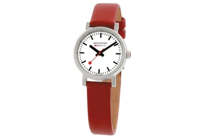 Mondaine 12mm horlogeband rood glans