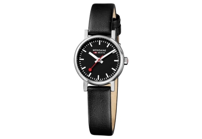 Mondaine 12mm horlogeband zwart mat
