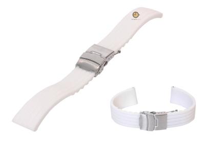 18mm siliconen horlogeband wit