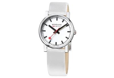 Mondaine 18mm horlogeband wit glans