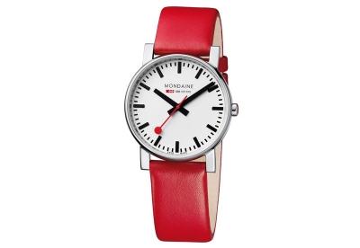 Mondaine 20mm horlogeband rood glans