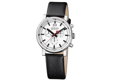 Mondaine 20mm horlogeband zwart glans